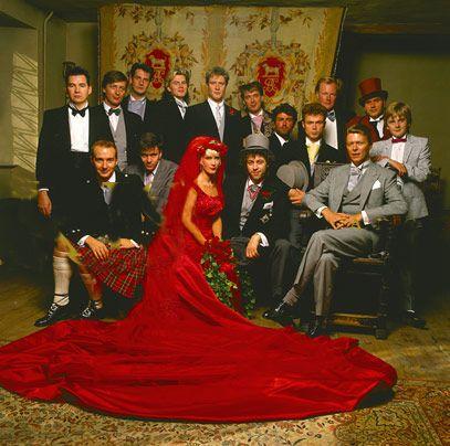 Bob Geldof Paula Yates Wedding Kent 1986 M Three Daughters Daughter Fifi Trixibelle B Peaches Pixie
