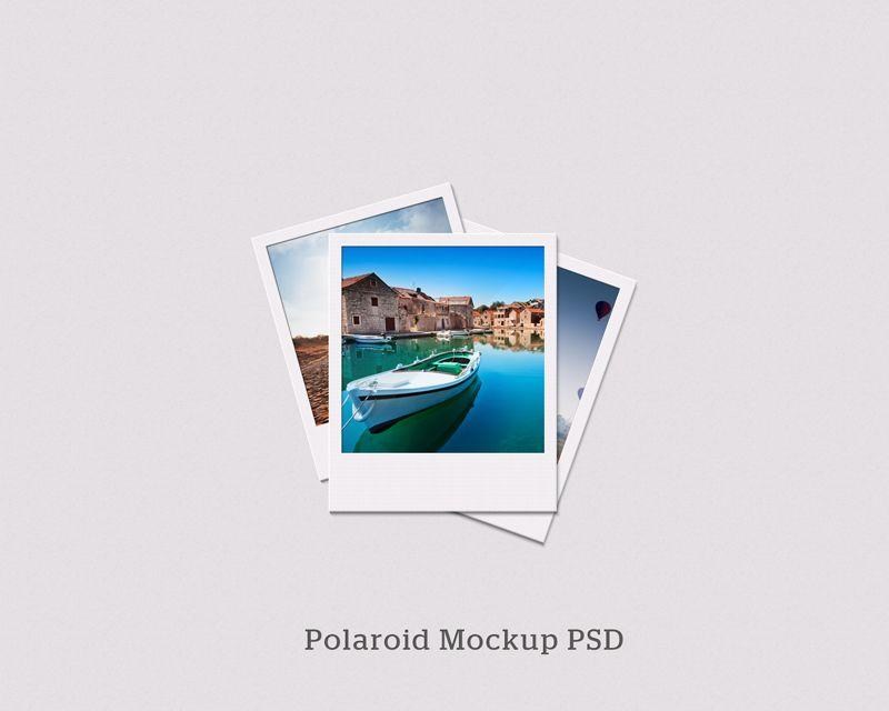 Free Polaroid Mockup PSD | Mockups | Pinterest