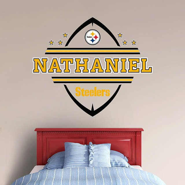 Pittsburgh Steelers Personalized Name Wall Decal Shop Fathead