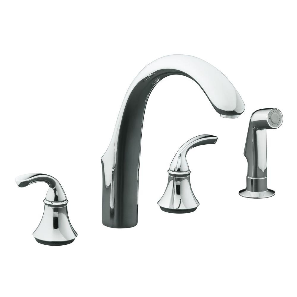 Kohler Forte 8 In 2 Handle Standard Kitchen Faucet With Side