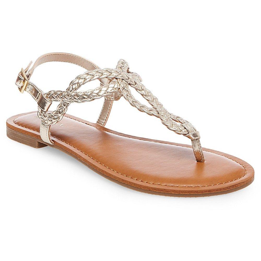 f077d7e32d49 Women s Jana Quarter Strap Sandals Gold 8.5 - Merona