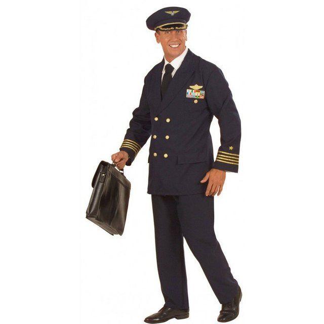 Pilot Herren Kostüm als Flugkapitän verkleiden zu Karneval Fasching