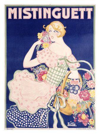 Mistinguett poster by Gaudin