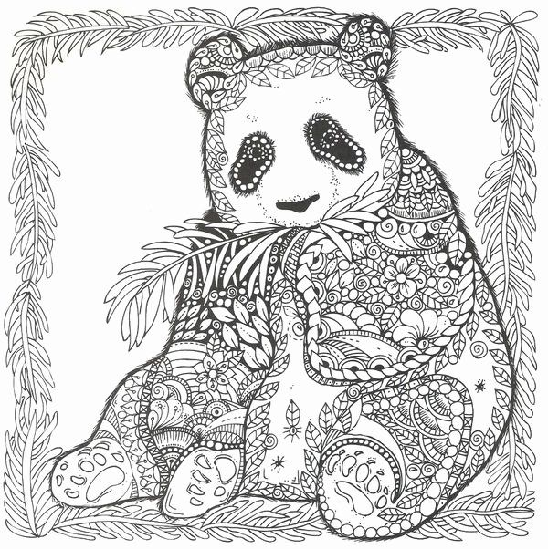 Adult Coloring Pages Panda in 2020 Bear coloring pages