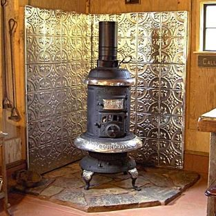 Wood Burning Stove Surround Pattern 2 Stainless Steel