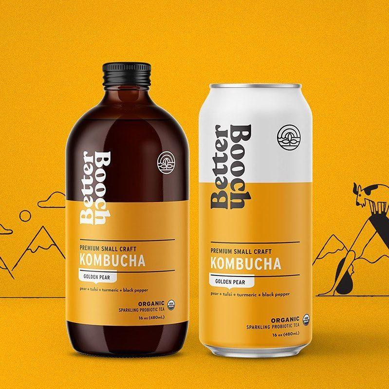 Can You Get Drunk Off Kombucha Branding Design Inspiration On Instagram Kombucha Packaging Design For Better Booch Have A Question Dm Us Kombucha Kombucha Brands Farm Design