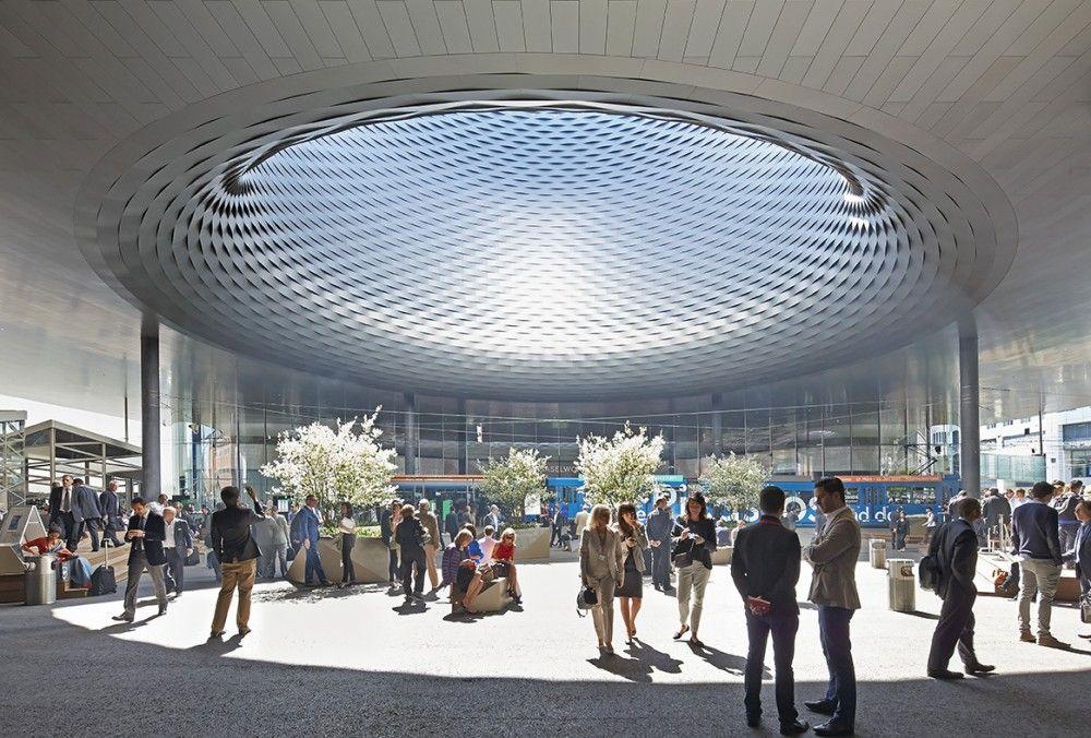 Messe Basel New Hall de Herzog & de Meuron, por Hufton + Crow