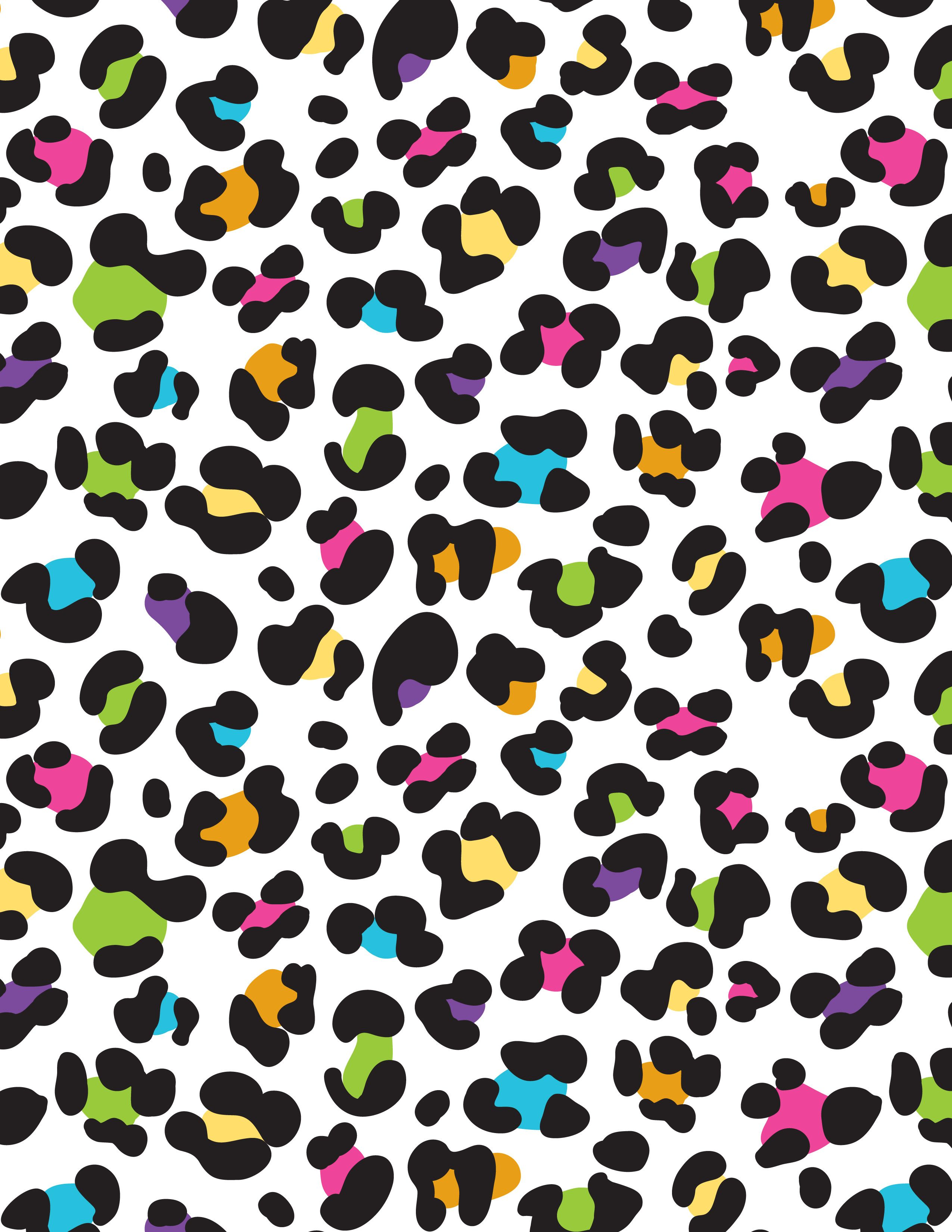 colorful rainbow lisa frank leopard cheetah background