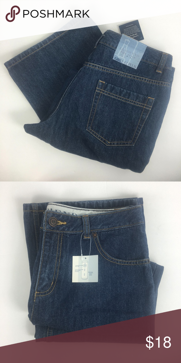 d42b9825036 NWT Girl's Lands' End 12+ Jeans 12 Plus Lands' End Jeans New with ...