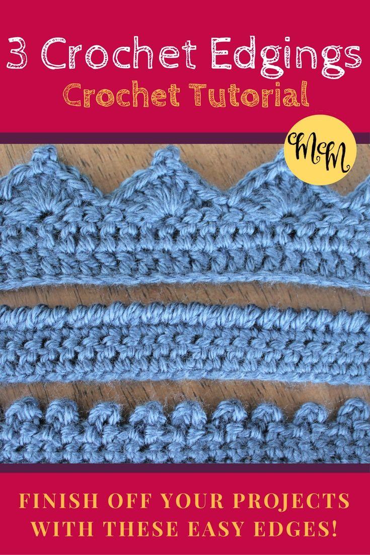 Crochet Edgings | Tejidos de punto, Ganchillo y Crear