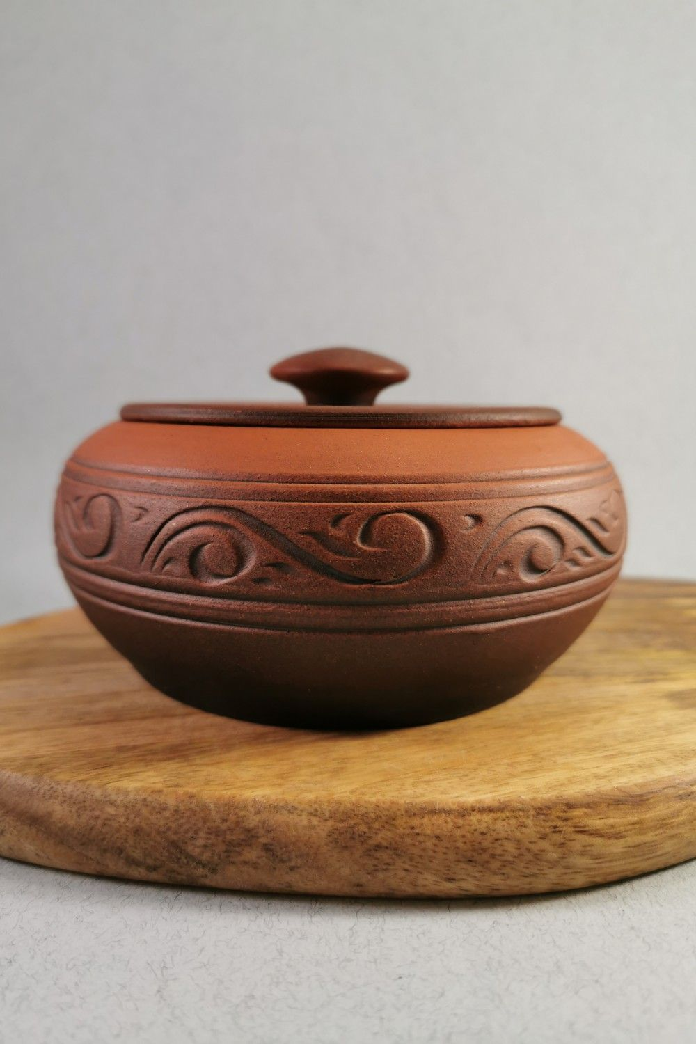 Wheel Thrown Pottery Handmade Casserole Clay Cooking Pot Small Pottery Bowl With Lid Pottery Lidded Jar Terracotta Kitchen Decor Farmhouse In 2020 Pottery Bowls Thrown Pottery Wheel Thrown Pottery