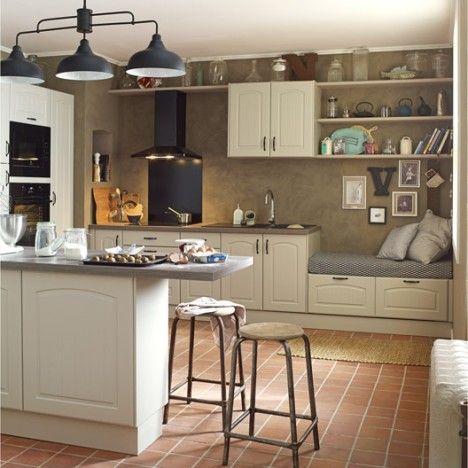 Meuble de cuisine DELINIA, composition type Oleron, chanvre - Leroy