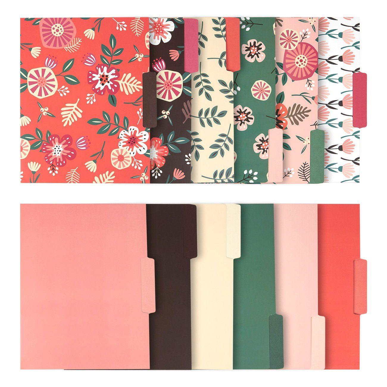 12 Stuck Dekoratives Ordner Ordner Set 6 Florale Designs Und 6 Einfarbige Farben Briefgrosse Mit 1 2 Cm Oberer Seite Aktenordner In 2020 Ordner Aktenordner Design