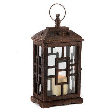 Antique Brown Lantern at Kirkland's | Brown lanterns ... on Lanterns At Kirklands id=36147