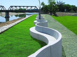 Concrete park benches design