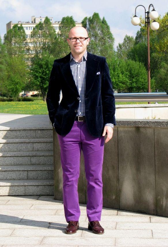 Velvet Jacket Purple Trousers To Clothe The Man