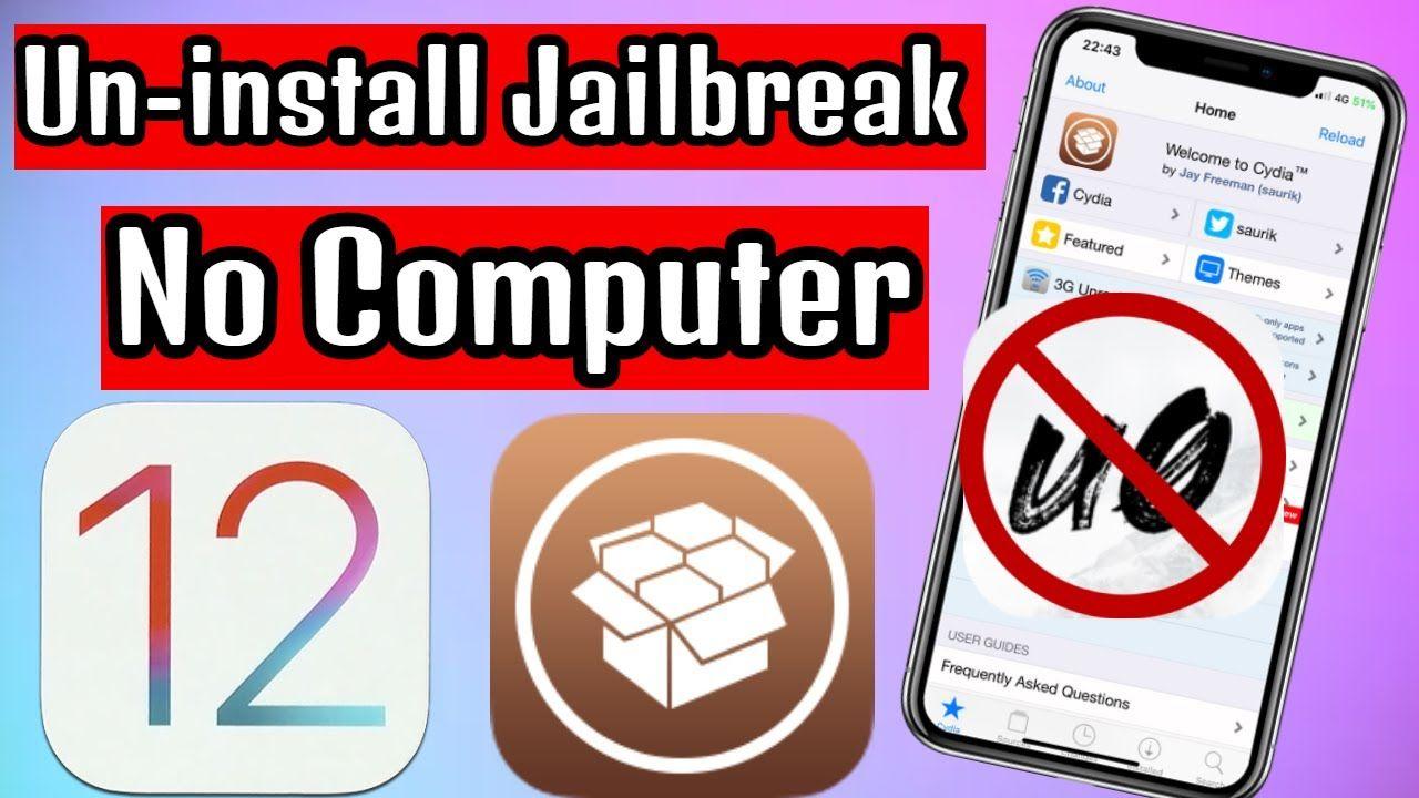 How to remove jailbreak ios 1241ios 124ios 122