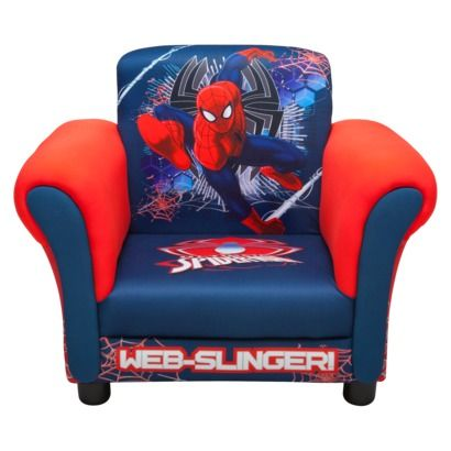 Delta Spiderman Upholstered Chair 60 Superhero Room