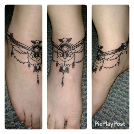 Gorgeous Ankle Bracelet Tattoo Ideas For Women Of All Ages: New Tattoo Ankle Bracelet …