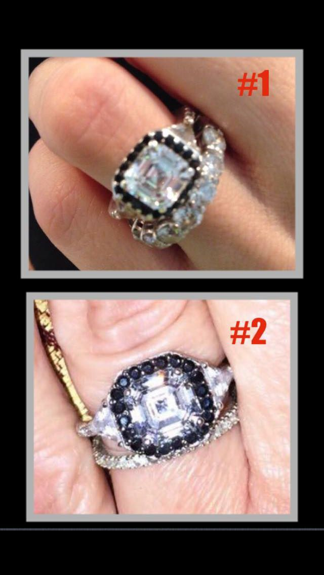 qvc amy strans ring the top one is her actual ring previously sold on - Qvc Wedding Rings