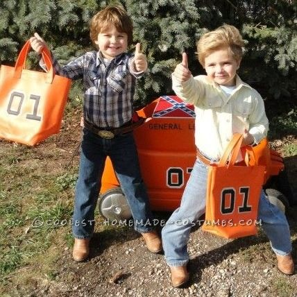 cutest little dukes of hazzard bo and luke duke costumes - Daisy Dukes Halloween Costume