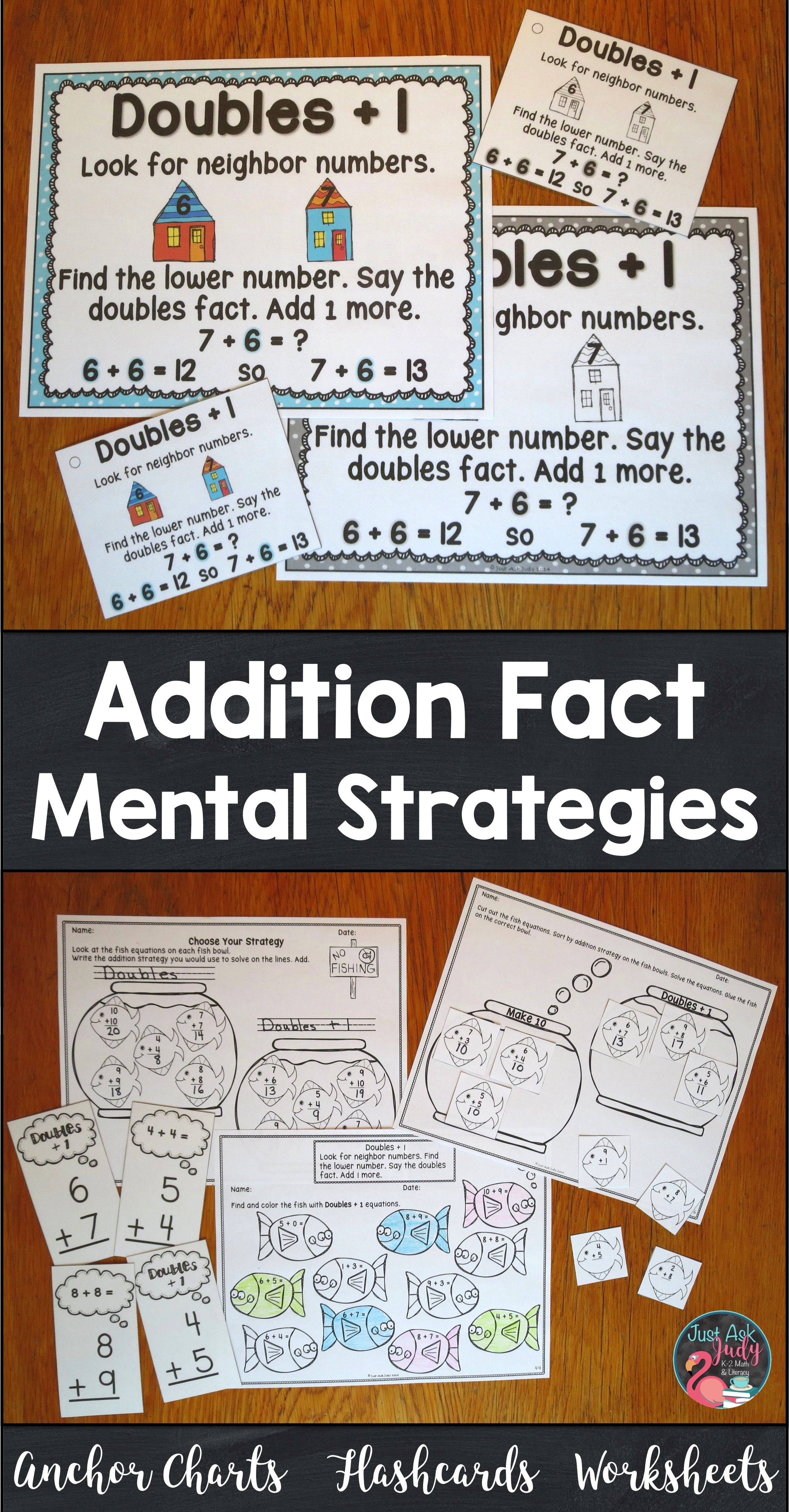 Addition Fact Strategies Bundle Of Anchor Charts