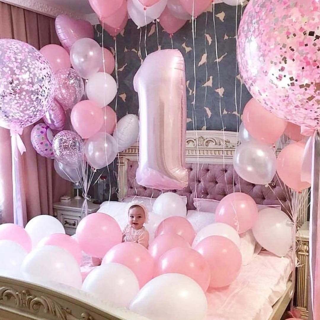 Now This Is The Way Your Child Should Wake Up On Their 1st Birthday Balloon Heaven Baby Babyboy Birthday Decorations Birthday Balloons Birthday Photoshoot