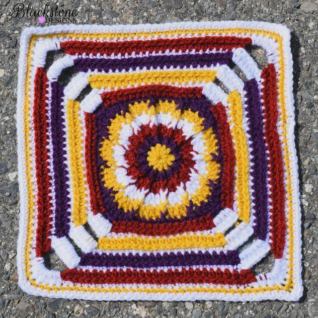 Botanical Garden Square | Muestras de crochet