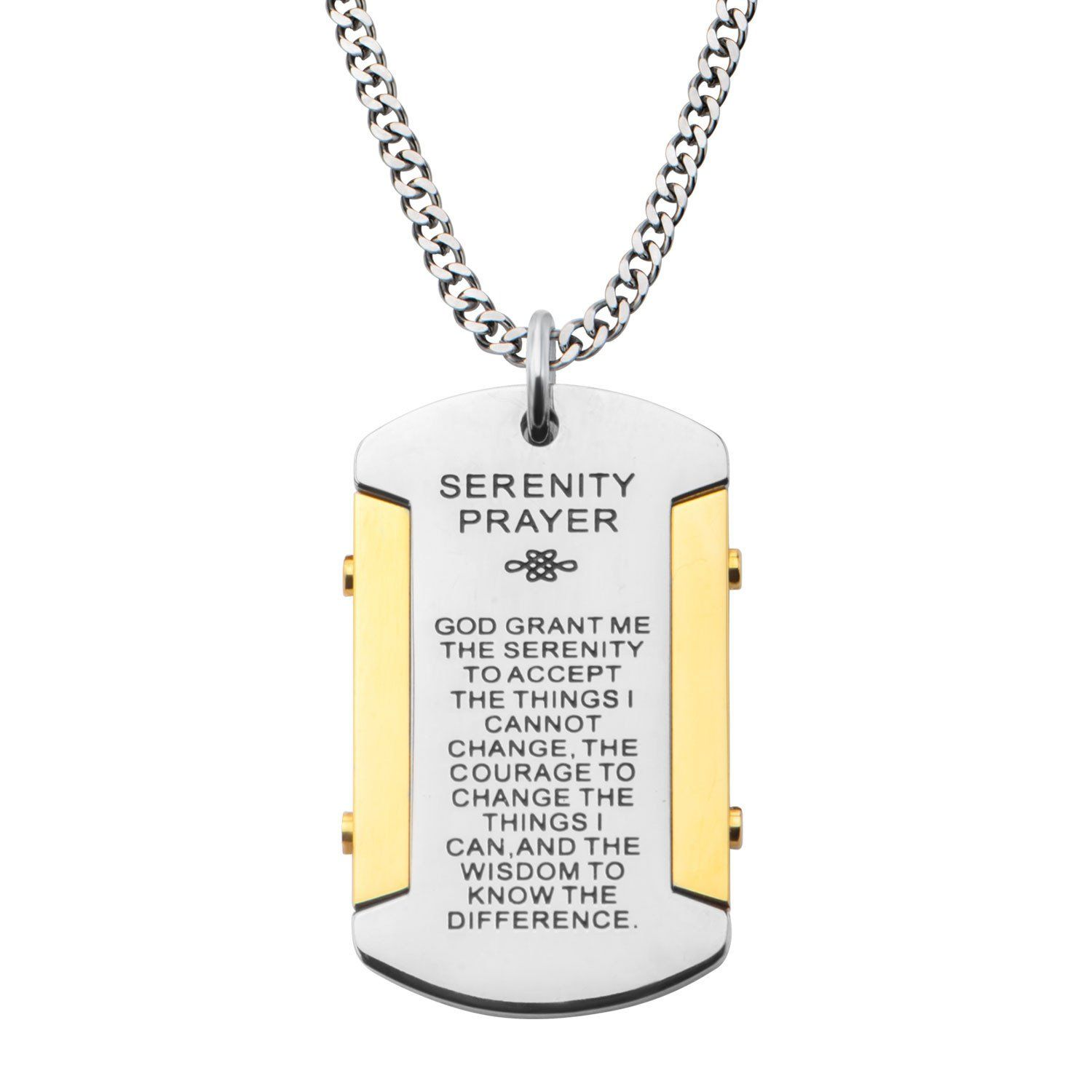 cross necklace pendants magnifier serenity pendant prayer