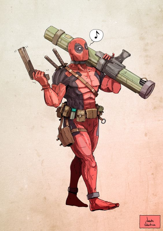 #Deadpool #Fan #Art. (Deadpool (Rocket) By: DavyGillustration. (THE * 3 * STÅR * ÅWARD OF: AW YEAH, IT'S MAJOR ÅWESOMENESS!!!™) [THANK U 4 PINNING!!!<·><]<©>ÅÅÅ+(OB4E)