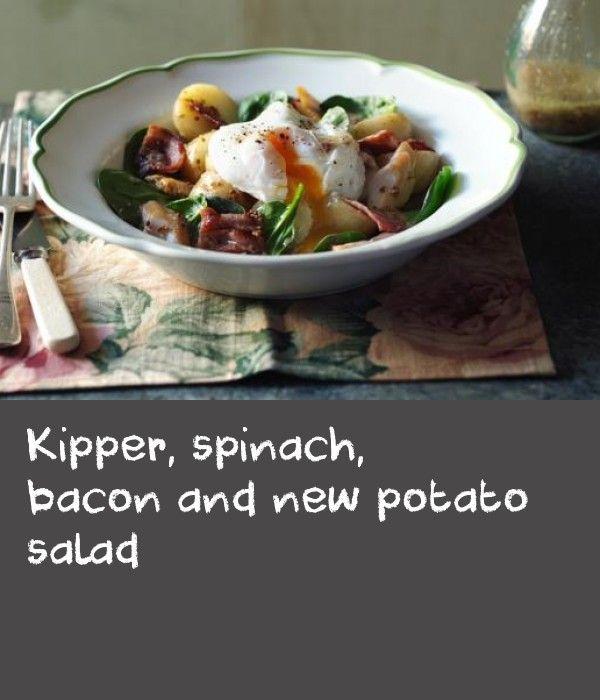 Kipper Spinach Bacon And New Potato Salad Recipe New Potato Salads Kipper Recipes Spinach