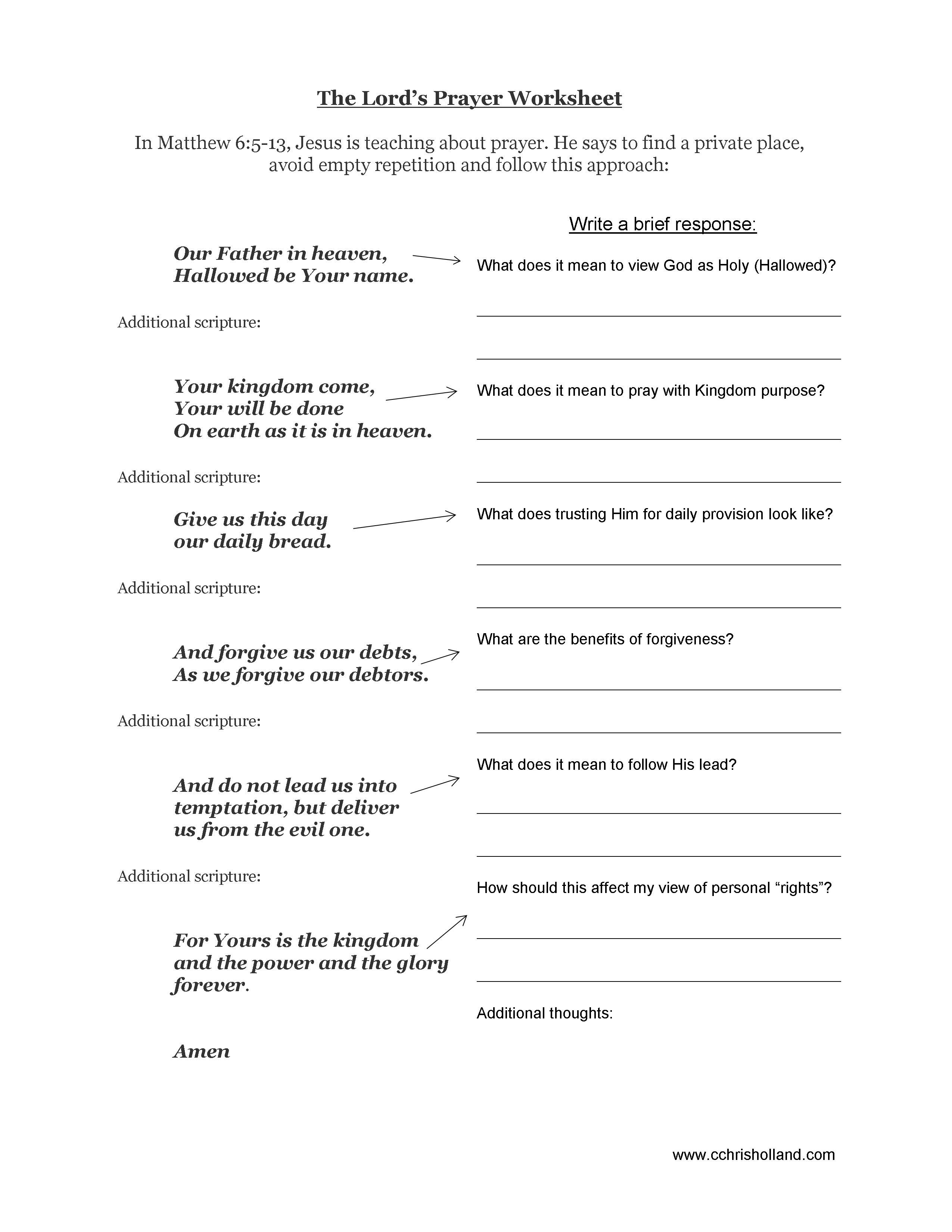 Worksheets Bible Worksheets For Adults the lords prayer worsheet relationship pinterest lord bible worsheet