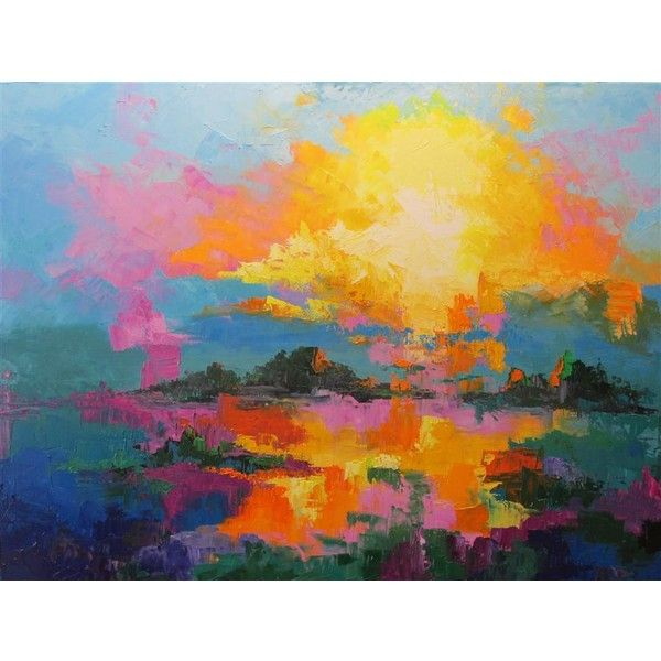by WELDON BALL Oil painting (€1.840) ❤ liked on Polyvore featuring home, home decor and wall art