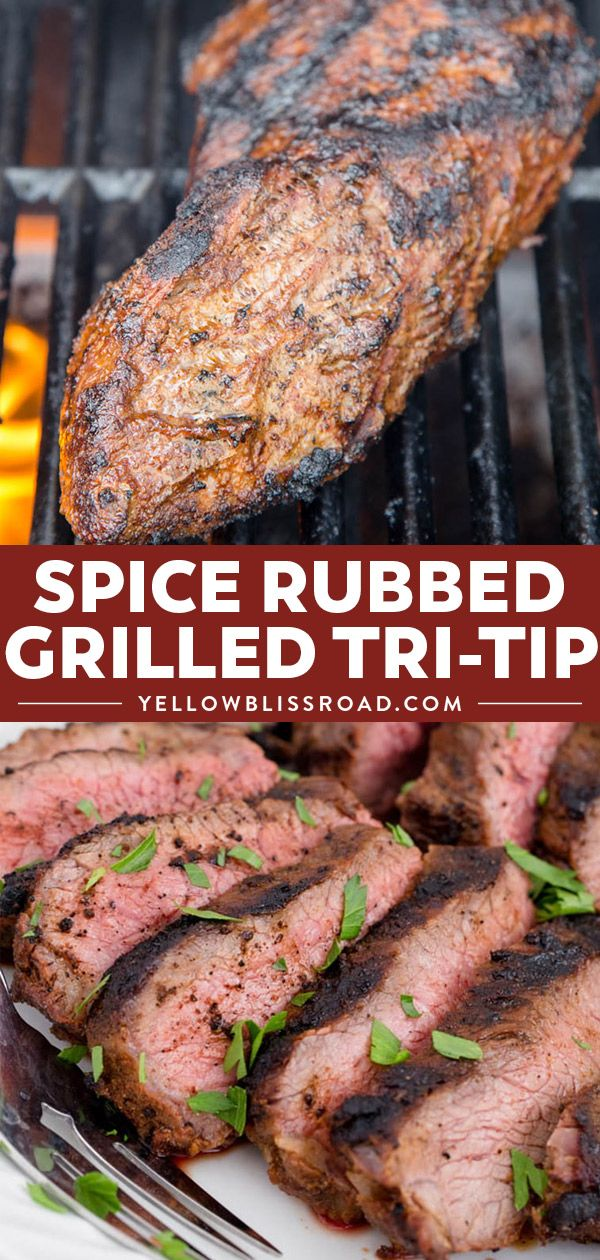 This Spice Rubbed Grilled Tri Tip is the BEST EVER recipe for Tri Tip on the grill. With 10 spices and seasonings this grilled tri tip is tender and juicy.