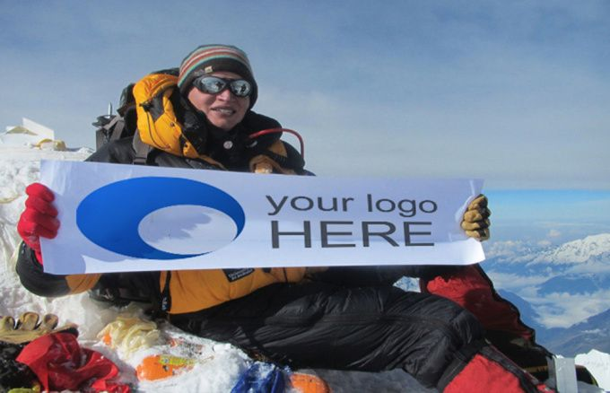 put your logo or message on 3 pic on the top of Everest mountain by eliascordero