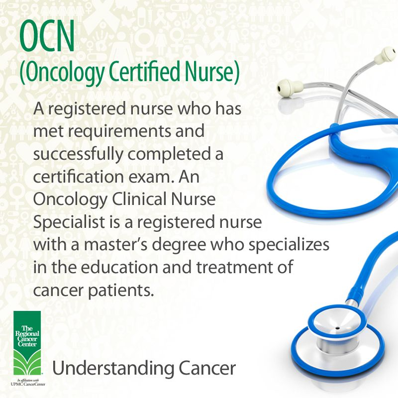 OCN (Oncology Certified Nurse) A registered nurse who has met - clinical nurse practitioner sample resume