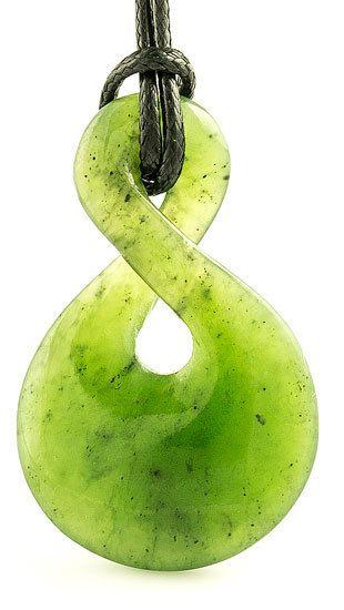 Maori Green Jade Infinity Necklace Maori Jade And Infinity