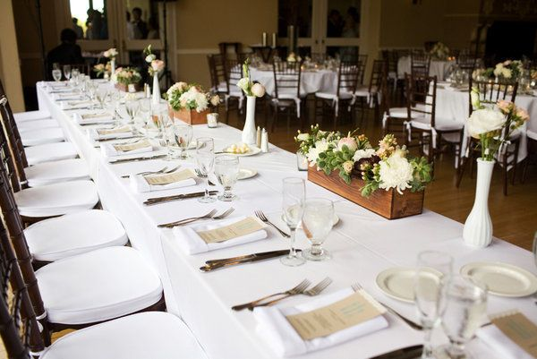 note simplicity of table setting napkin placement and note on napkin & Altadena Wedding by JAC Photography   Table settings Wedding cake ...