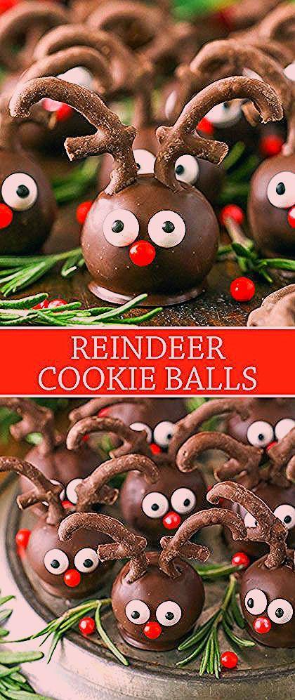 Reindeer Cookie Balls | Adorable Christmas Cookie Recipe