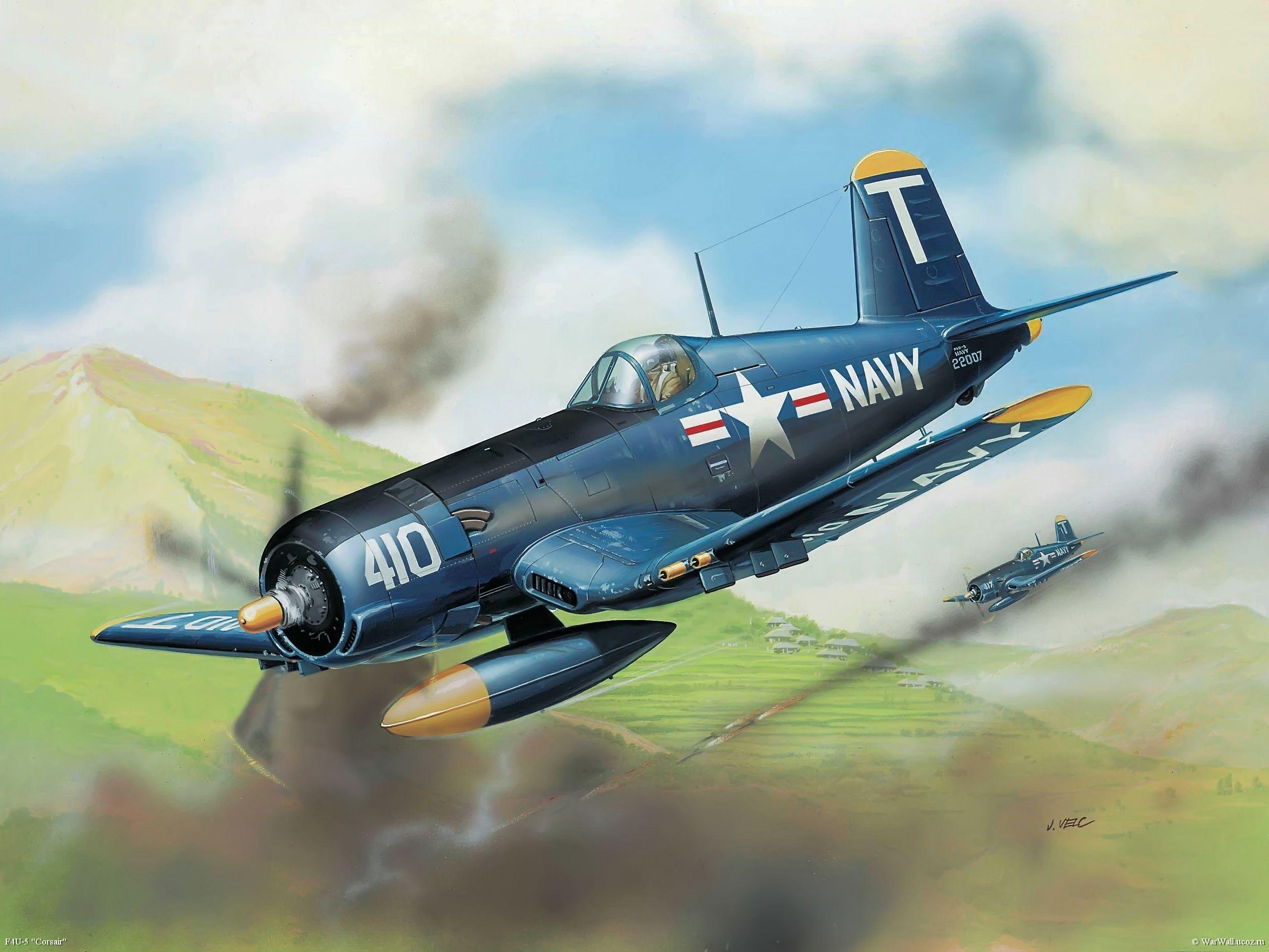 Обои Вторая мировая, F4u corsair, chance vought. Авиация foto 18