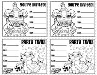 DIY Animal Jam Birthday Party Invites