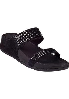 4565d1705ebf0 FitFlop - Flare Slide Sandal Black Suede