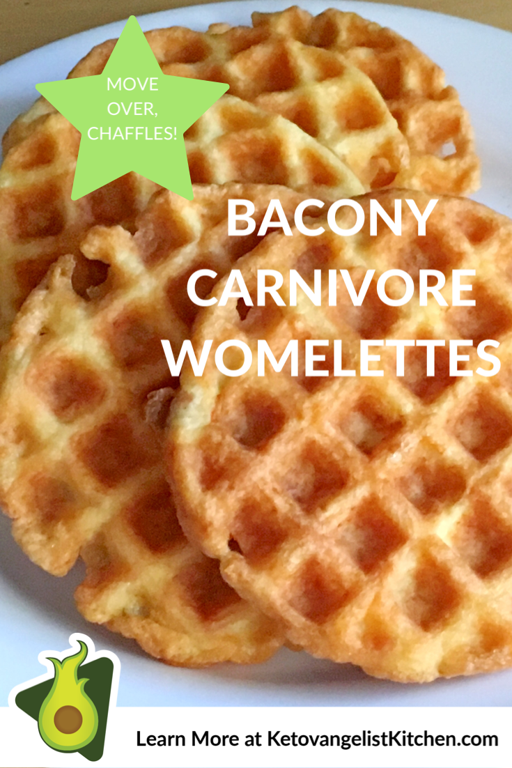 Bacony Carnivore Womelettes - Ketovangelist Kitchen