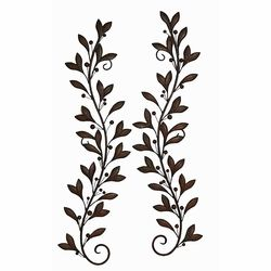 Modis Olive Branch Metal Wall Accents Wrought Iron