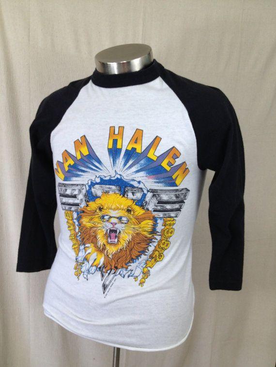 3009f75a Vintage Van Halen 1982 Live concert T-shirt baseball shirt 1980s ...