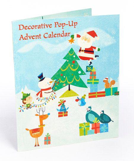 Pop-Up Holiday Advent Calendar | Christmas tree advent calendar, Christmas icons, Holiday festival