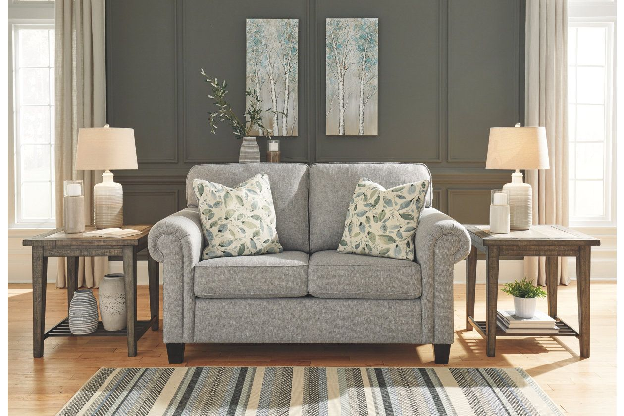 Best Alandari Loveseat Love Seat Grey Living Room Sets 400 x 300