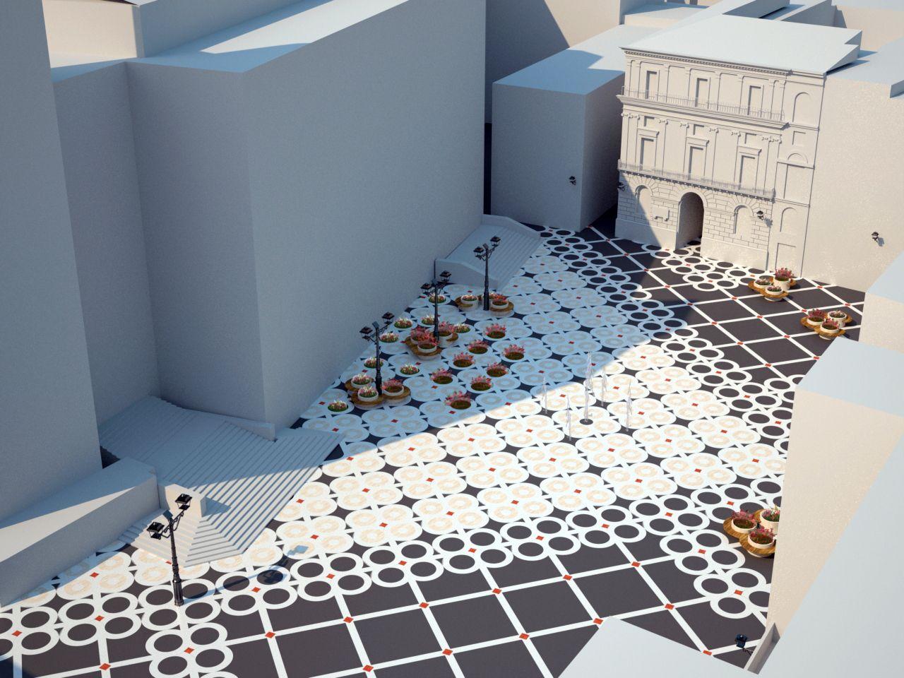 Progetto Di Arredo Urbano.Progetto Di Riqualificazione Di Piazza San Giustino Ottenuto