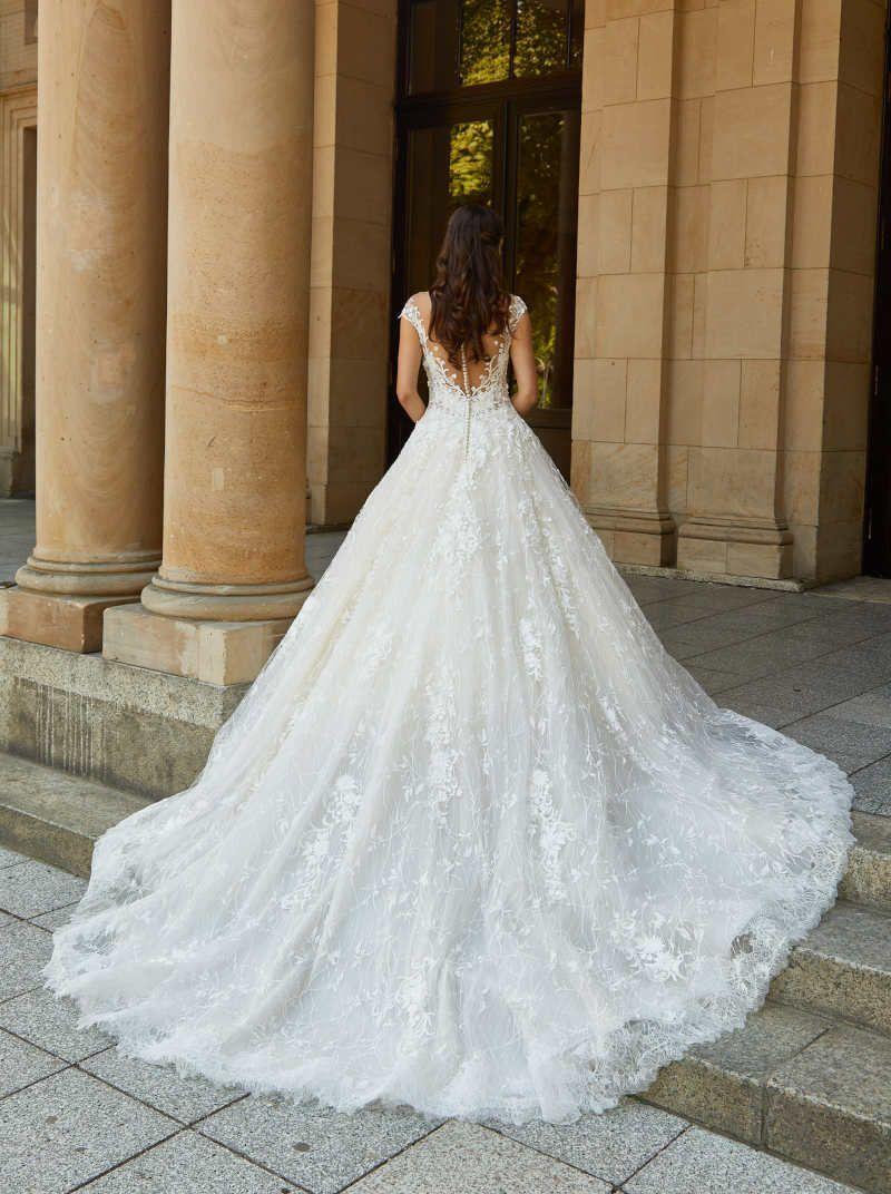 Spitzen Schleppe  Brautkleid prinzessin, Hochzeitskleid