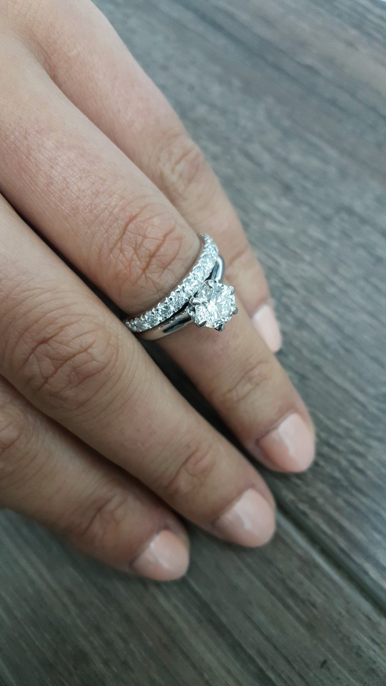 Matching Diamond Rings Round Solitaire Engagement Ring And Eternity Wedding Band: Cool Round Wedding Rings At Websimilar.org